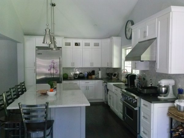 White Kitchen Cabinets and granite countertop